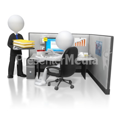 Boss Giving Office Work Task Presentation clipart