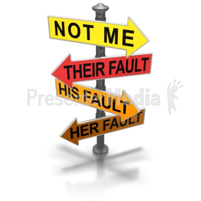 Pointing Blame Sign Presentation clipart