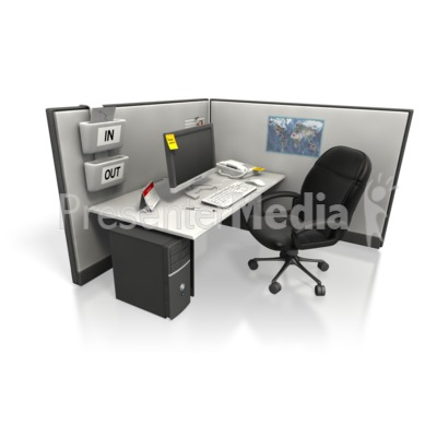 Empty Cubicle Angle Two Presentation clipart