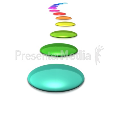 A Spectrum Line of Colored Circles Presentation clipart