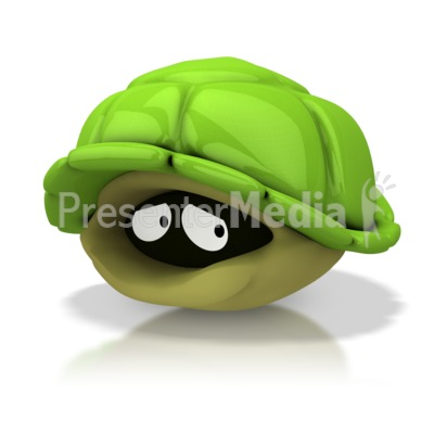 Hiding in Shell Presentation clipart