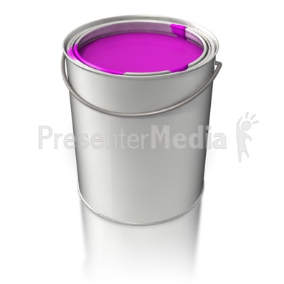 Filled Paint Bucket Presentation clipart