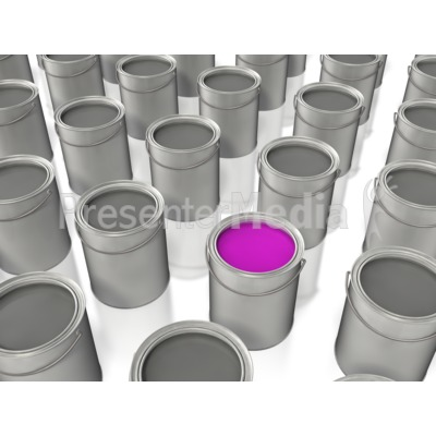 Paint Bucket Color Stand Out Presentation clipart