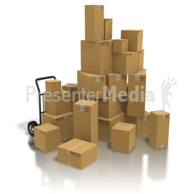 Pile Of Shipping Boxes Presentation clipart