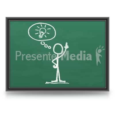 Chalk Figure Light bulb Idea Presentation clipart