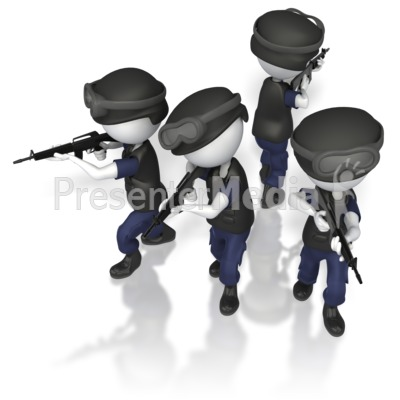 Police Swat T Formation Presentation clipart