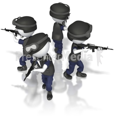 Police Diamond Formation Presentation clipart