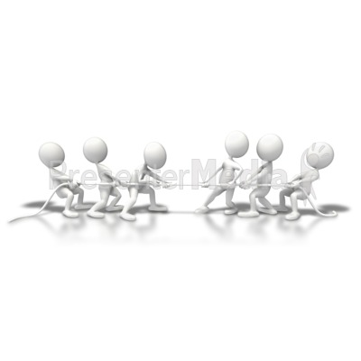 Teams Tug Of War Presentation clipart