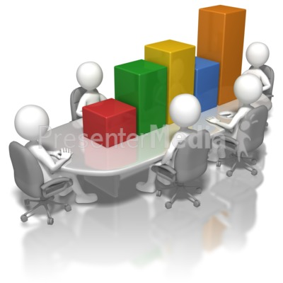 Bar Graph Conference Table Presentation clipart