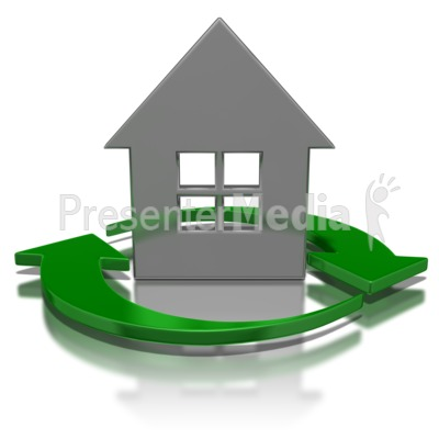Arrows Circling House Symbol Presentation clipart