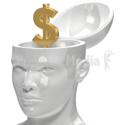 Dollar Inside Head Presentation clipart
