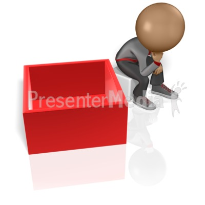 Thinking Outside The Box Presentation clipart
