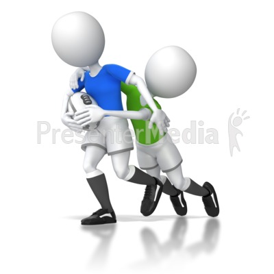 Rugby Tackle Presentation clipart