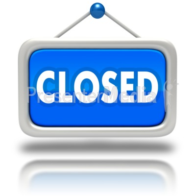 Window Sign Closed Presentation clipart