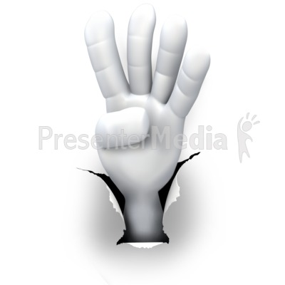 Hole Hand Number Four Presentation clipart