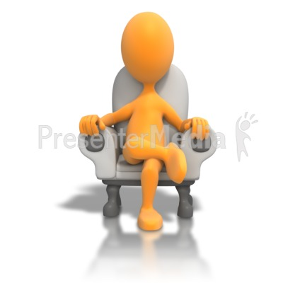 Sitting In Chair Relaxing Presentation clipart