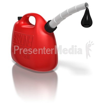 Gas Can With Oil Drip Presentation clipart