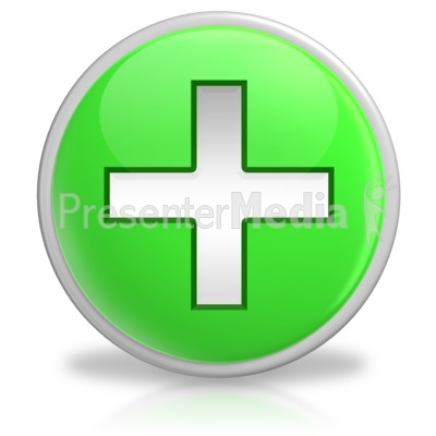 Plus Button Symbol Icon Presentation clipart