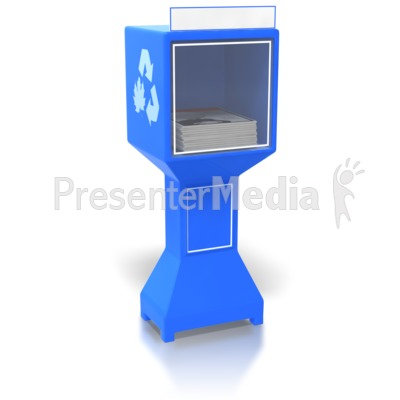 Magazine Dispenser with blank sign Presentation clipart