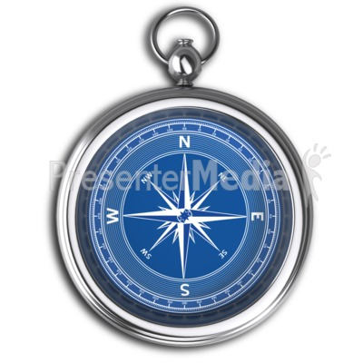 Plain Compass No Dial Presentation clipart