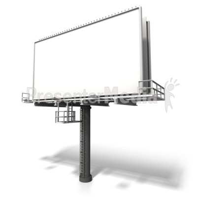 Angled Billboard Display Presentation clipart
