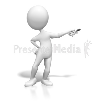 Stick Figure Presenting With Pen Presentation clipart
