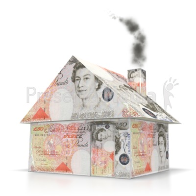 English Money House Presentation clipart