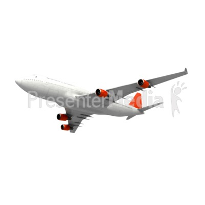 Commercial Airplane Angle Presentation clipart