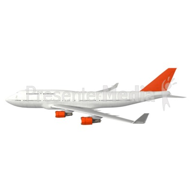 Commercial Airplane Profile Presentation clipart