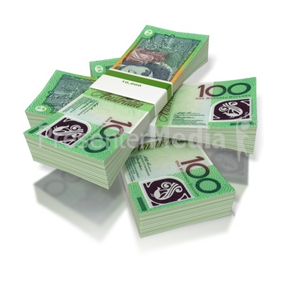 Money Three Stack Australian Presentation clipart