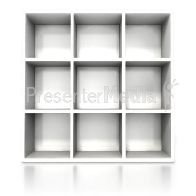 White Container Shelve Presentation clipart