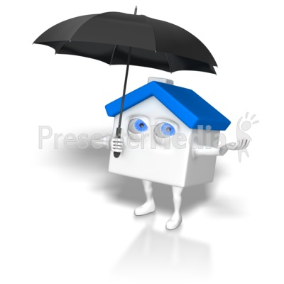 House Holding Umbrella Presentation clipart