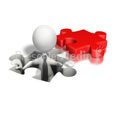 Puzzle Piece Hole Business Presentation clipart