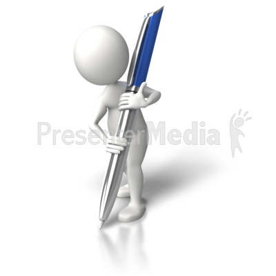 Write It Down Large Presentation clipart