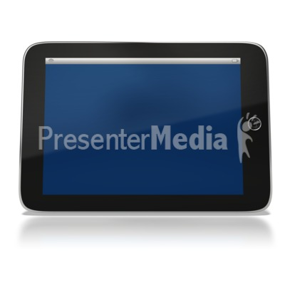 Tablet Computer Presentation clipart