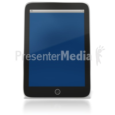Tablet Computer Upright Presentation clipart
