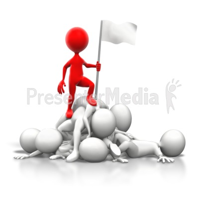 Stick Figure On Top of Pile Presentation clipart
