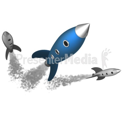 Retro Rockets Presentation clipart