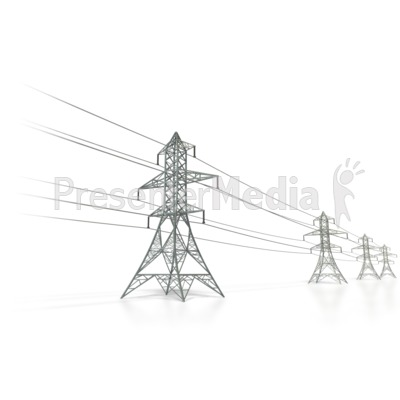Power Transmission Lines Presentation clipart