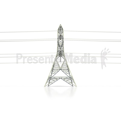 Power Transmission Tower Side Presentation clipart