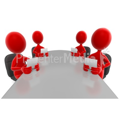 Stick Figures Colored Conference Meeting Presentation clipart