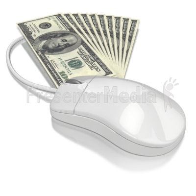 Computer Mouse Money Presentation clipart