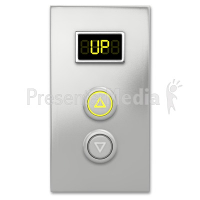 Elevator Button Up Presentation clipart