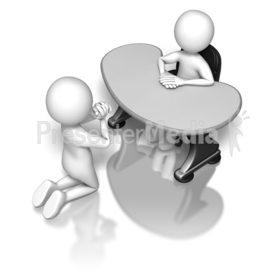 Begging To The Boss Presentation clipart