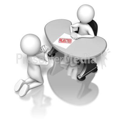 Begging To The Boss Rejected Presentation clipart