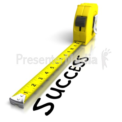 Tape Measuring Success Presentation clipart