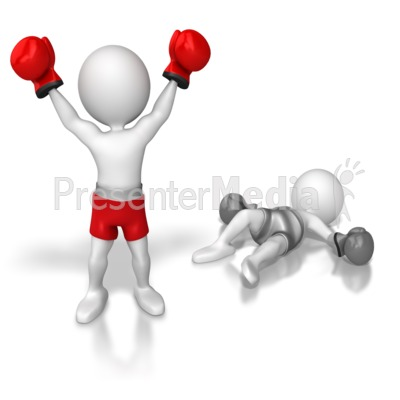 Stick Figure Knock Out Competition Presentation clipart