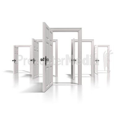 Doors Of Opportunity Presentation clipart