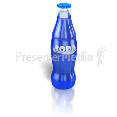 Soda Pop Bottle Presentation clipart