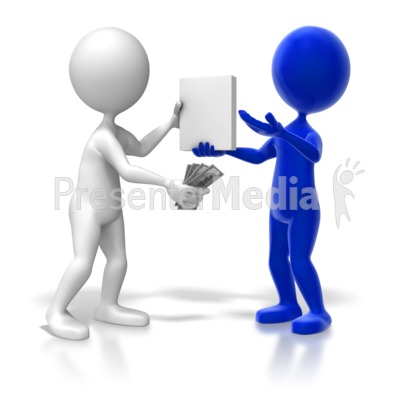Sales Transaction Colored Presentation clipart